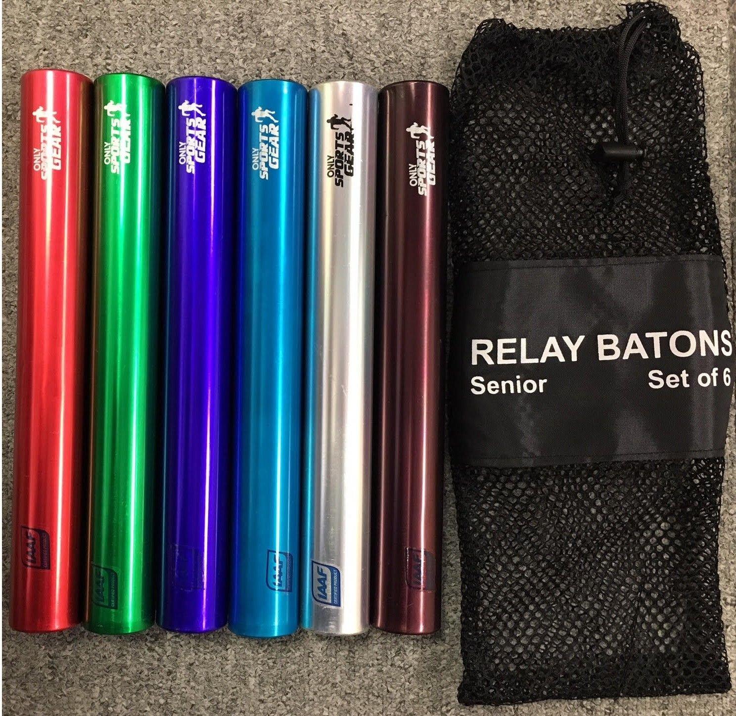 IAAF Certified Athletics Games Passover Relay Runner Batons Plastic Set Of 6