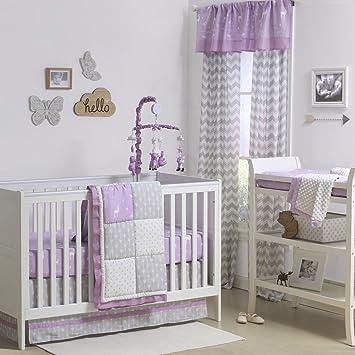 Merveilleux Wild U0026 Free Patchwork Pink/Purple Crib Bedding   11 Piece Sleep Essentials  Set