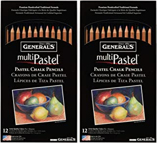 product image for 2-Pack - General Pencil 4400-12A General's Pastel Chalk Pencils, 12 colors per pack