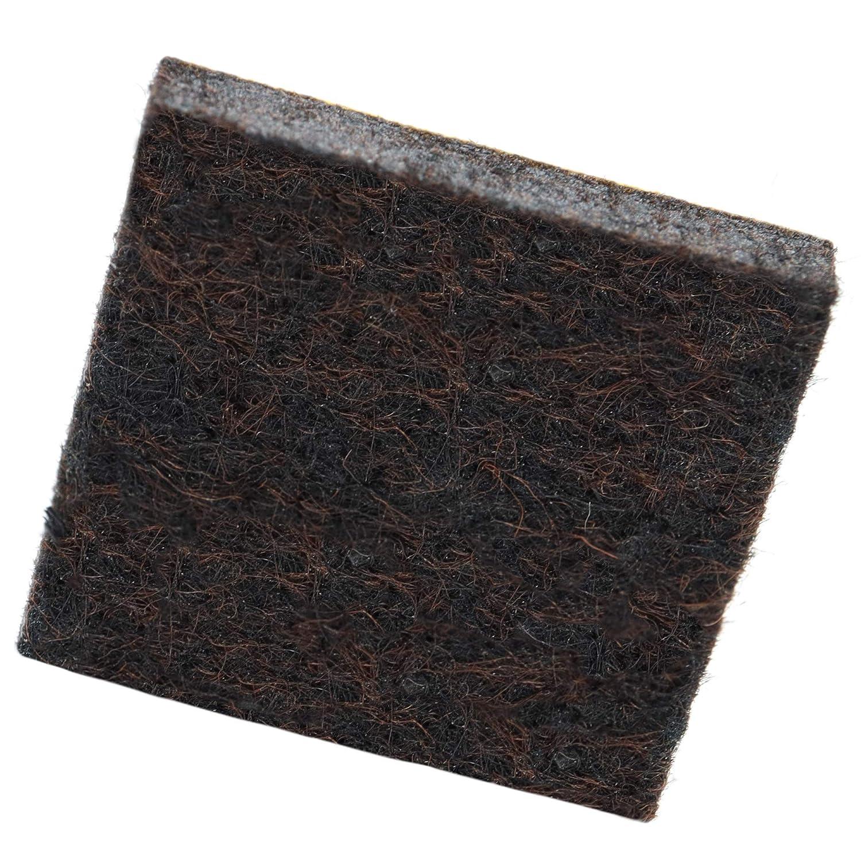 100 x almohadillas de fieltro | 30x30 mm | marrón | quadrati | Patas de muebles adhesiva de la máxima calidad (5.5 mm) de Adsamm® Adsamm®