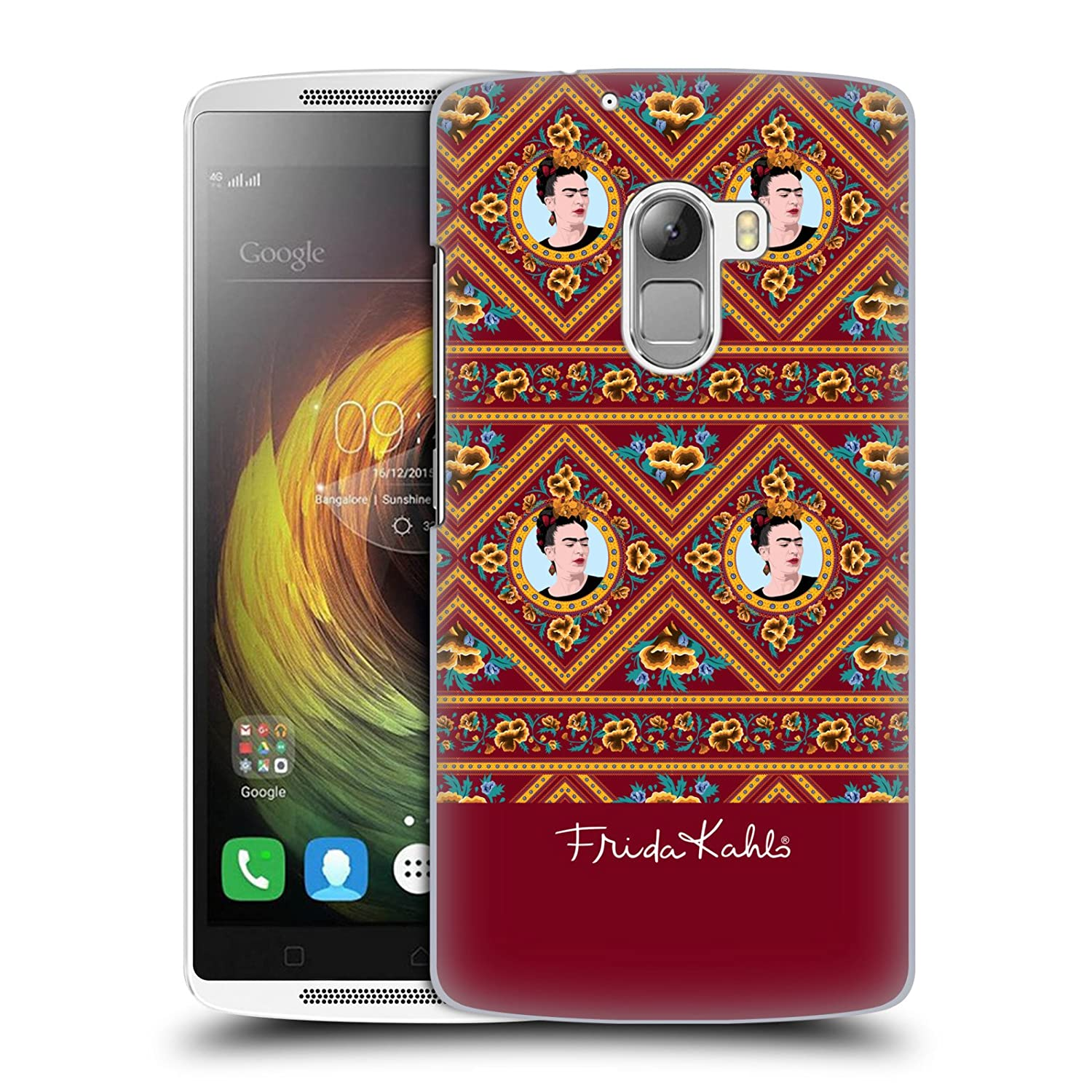 Amazon ficial Frida Kahlo Maroon Portraits And Patterns Hard Back Case for Lenovo Vibe K4 Note Cell Phones & Accessories