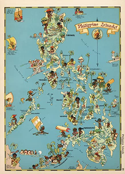 VintPrint Map Poster - Philippine Islands. - 24\