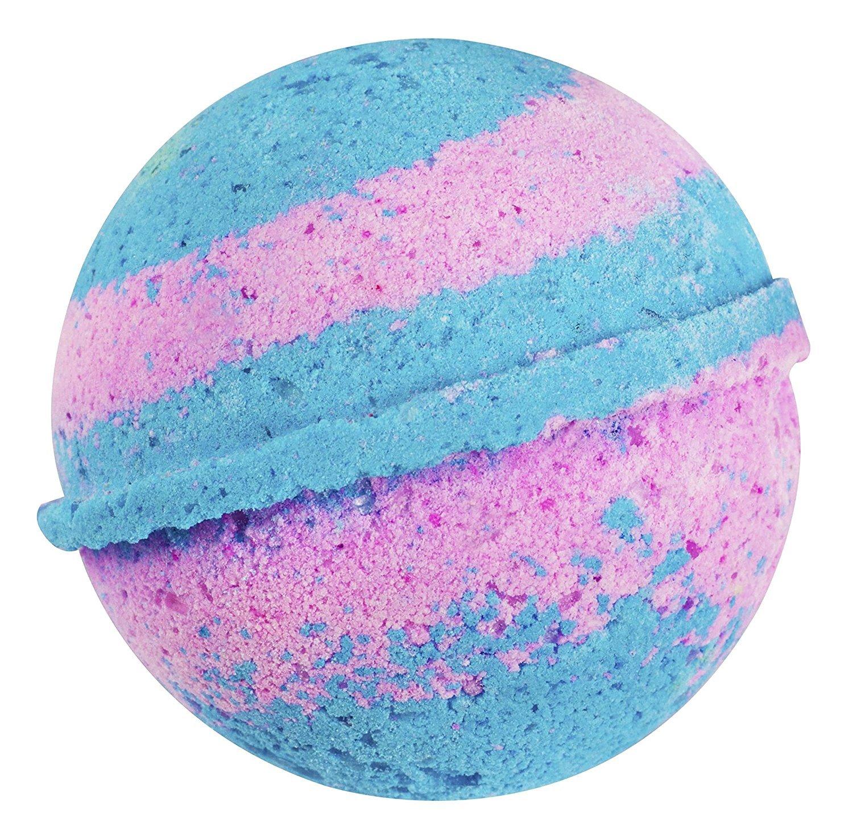 Sense Sation Blue Lavender & Palma Rosa Bath Bomb USA Handmade Ultra Lush Spa Bath Fizzies 4.5 oz. Organic Essential Oil, Fizzy & Colorful, Aromatherapy & Moisturizing, Vegan & Gluten Free Gift Idea