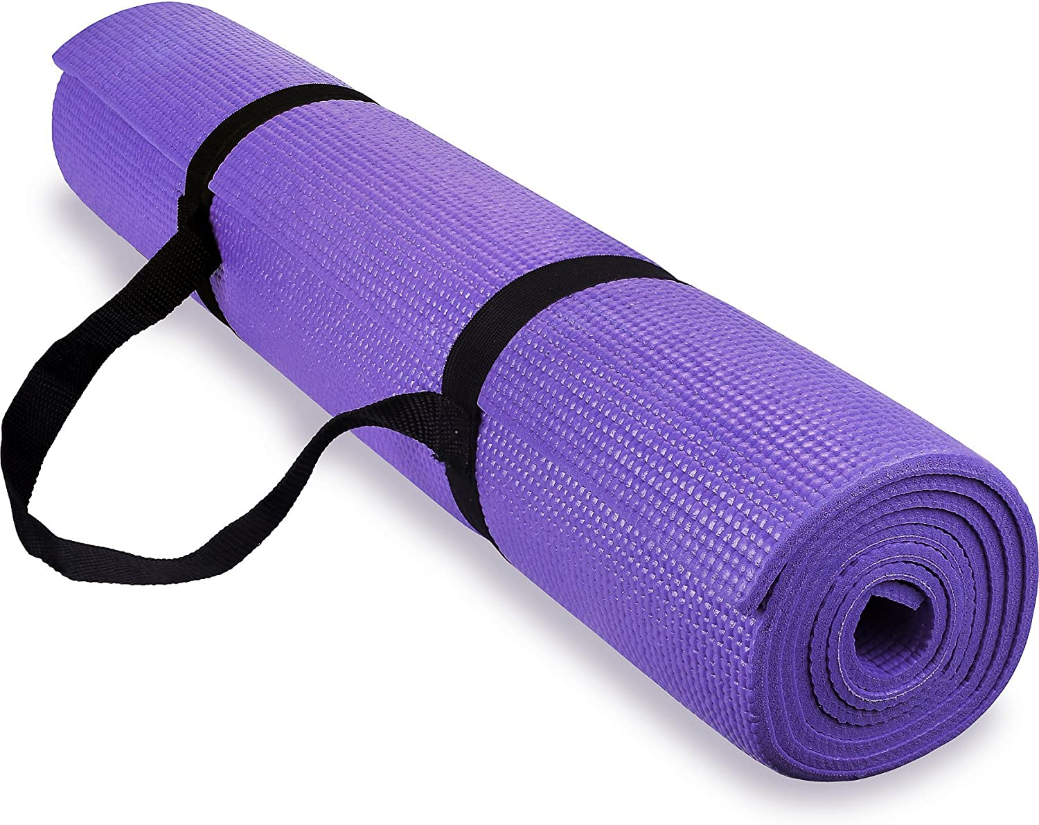 Spoga 1 4-Inch Anti-Slip Exercise Yoga Mat with Carrying Strap