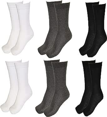 6 Pares Calcetines Hombre Algodón, Calcetines Invierno Hombre, Calcetines Divertidos Hombre, Pack Calcetines Hombre, Originales, Estampados, para todas las ocasiones (6-pares-blanco-negro-gris): Amazon.es: Ropa y accesorios