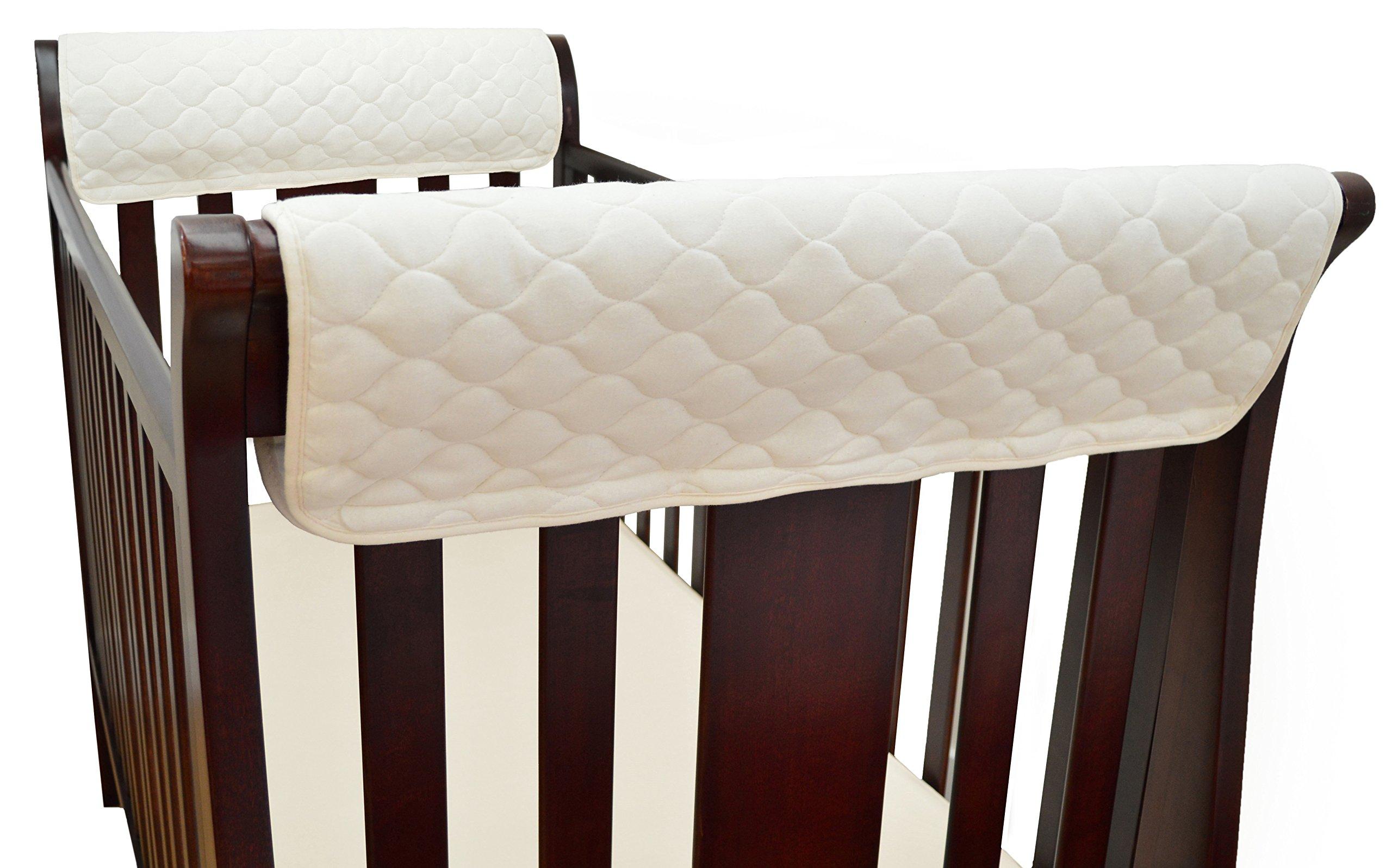Amazon Com Tl Care Organic Cotton Front Crib Rail Cover