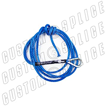 """Blue 1//4/""""*10ft Snow Plow Lift Rope,Synthetic Rope,UTV Winch Rope,ATV Winch Cable"""