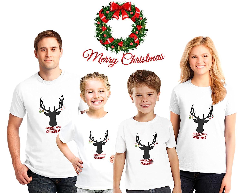 Amazon.com: Personalized Christmas Family Pajama Matching Shirts ...