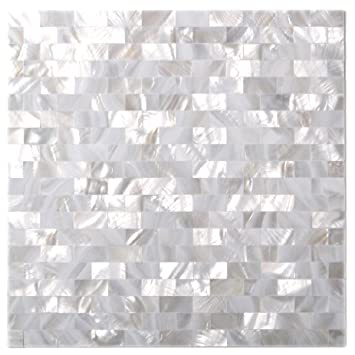 Amazoncom Natural Mother Of Pearl Tiles White Subway Seamless 15 X