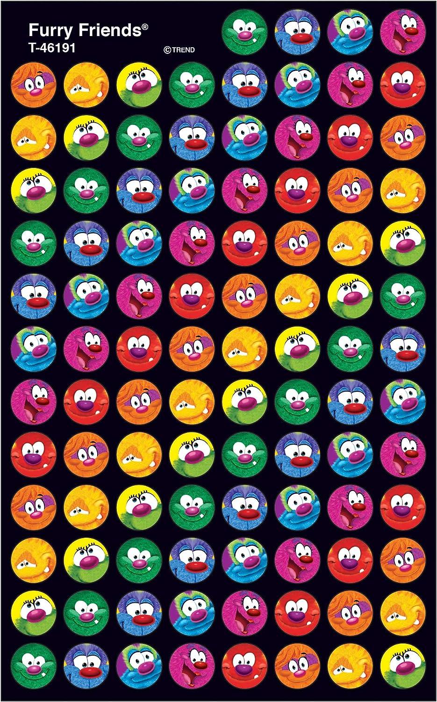 Trend Enterprises Inc. Furry Friends superSpots Stickers, 800 ct
