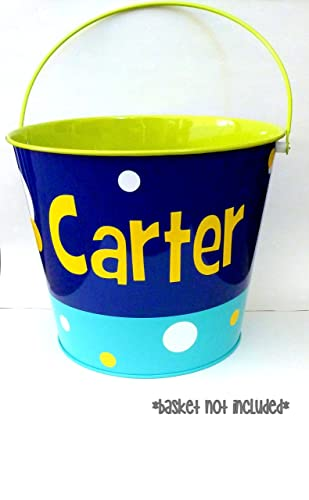 Amazoncom Personalized Easter Basket Vinyl Custom Easter Bucket - Custom vinyl decals diy