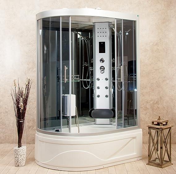 Cabina de ducha hidromasaje con bañera Florence2 115 x 90 derecha baño turco: Amazon.es: Bricolaje y herramientas