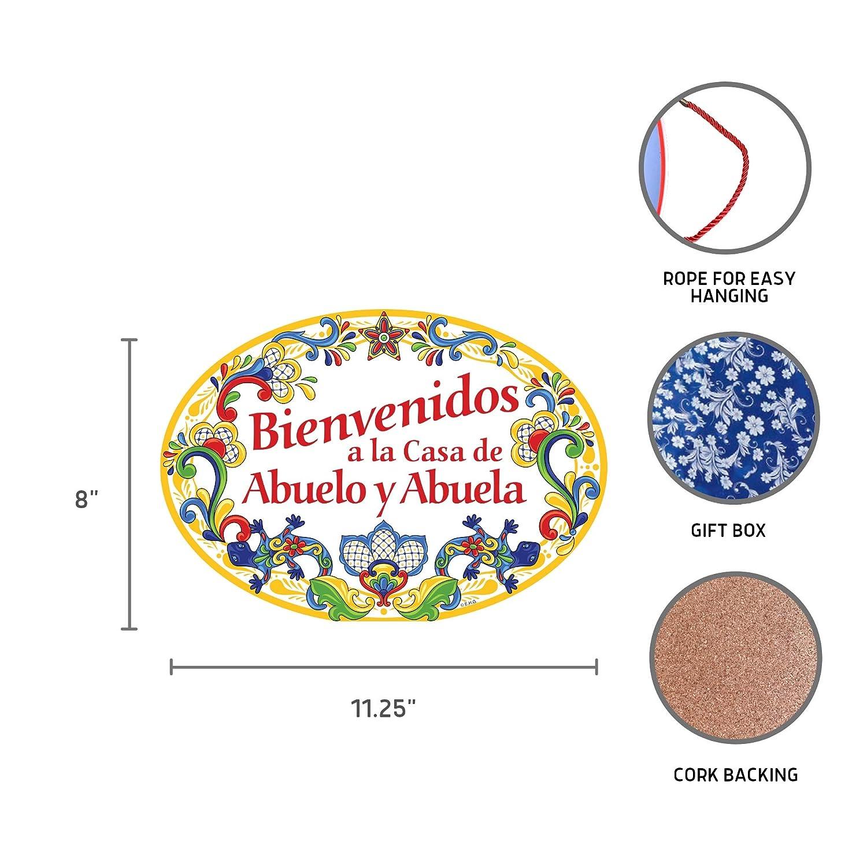 Amazon.com: Cartel de puerta de cerámica de 11x8 de la casa ...