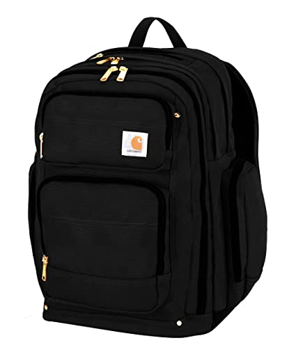 fa8e521e047 Amazon.com: Carhartt Legacy Deluxe Work Backpack with 17-Inch Laptop  Compartment, Black: Sports & Outdoors
