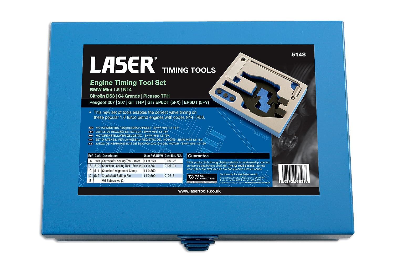 Laser 5148 herramientas para puesta a punto de motor para BMW Mini 1,6 motor: Amazon.es: Coche y moto