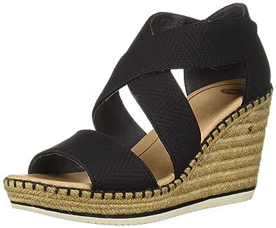 61c5333f46 Dr. Scholl's Shoes Women's Vacay Espadrille Wedge Sandal, Black Altitude  Print, ...