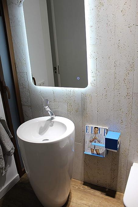 Portarrollos oculto para papel higiénico con soporte para revistas ... 477bd6c7f82c