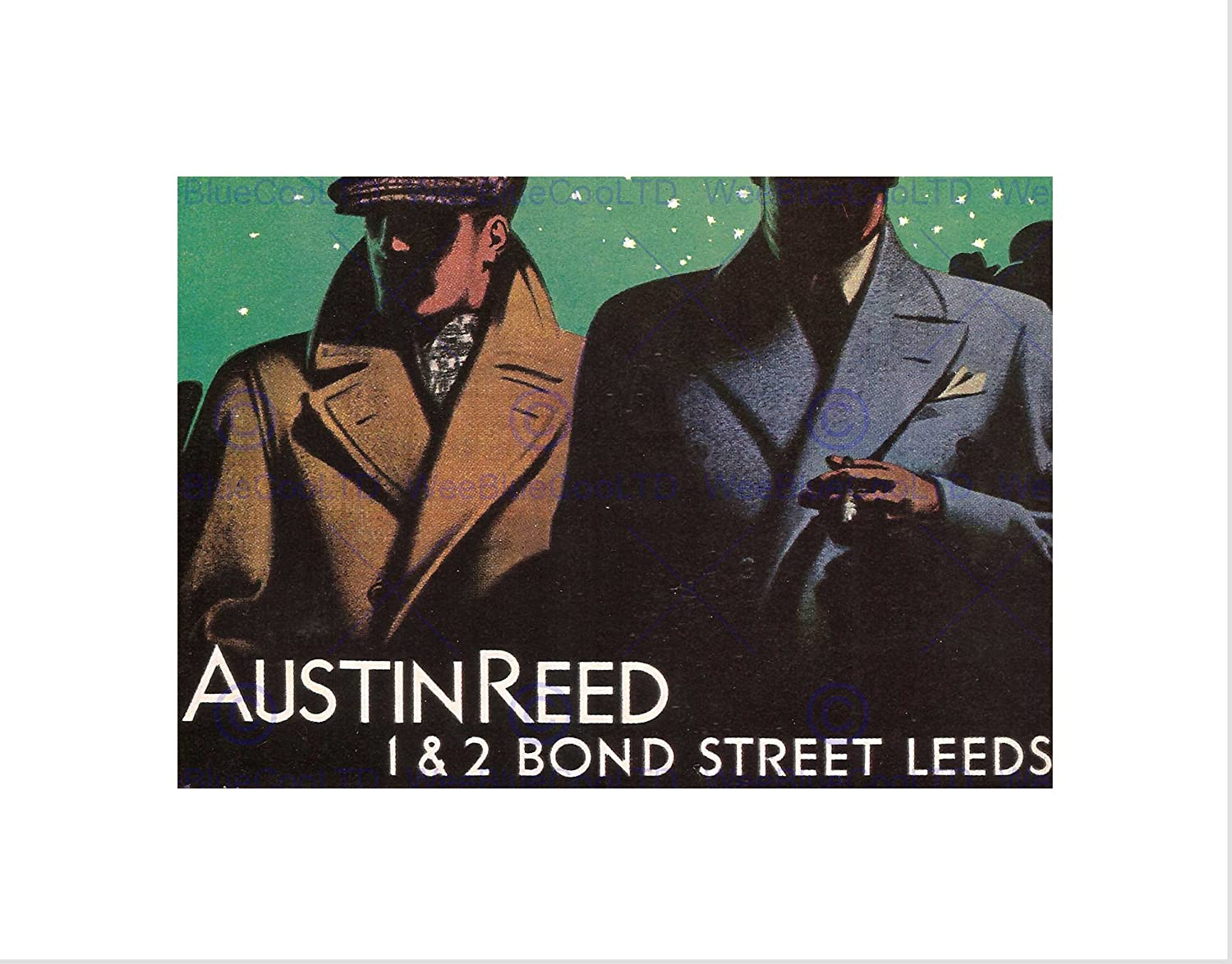 Wee Blue Coo Advertisement Austin Reed Bond Street Leeds Yorkshire Wall Art Print Amazon Co Uk Kitchen Home