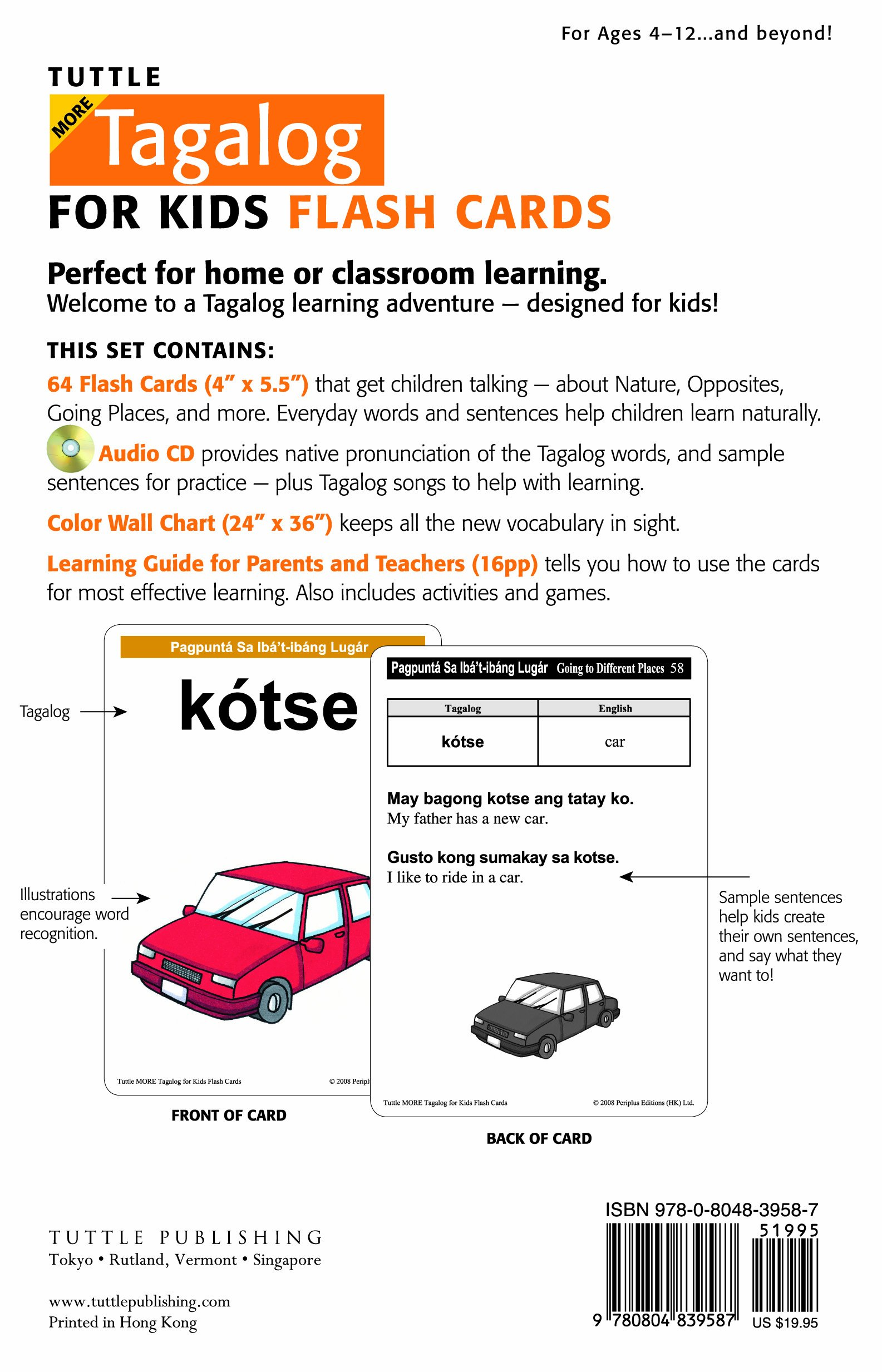 Tuttle more tagalog for kids flash cards kit includes 64 flash tuttle more tagalog for kids flash cards kit includes 64 flash cards audio cd wall chart learning guide tuttle flash cards imelda fines gasmen ccuart Image collections