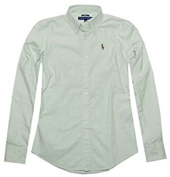 48bb92c8 RALPH LAUREN Women's Slim Fit Oxford Button Down Shirt at Amazon Women's  Clothing store: