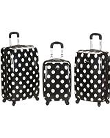 Rockland 3 Piece Laguna Beach Upright Luggage Set
