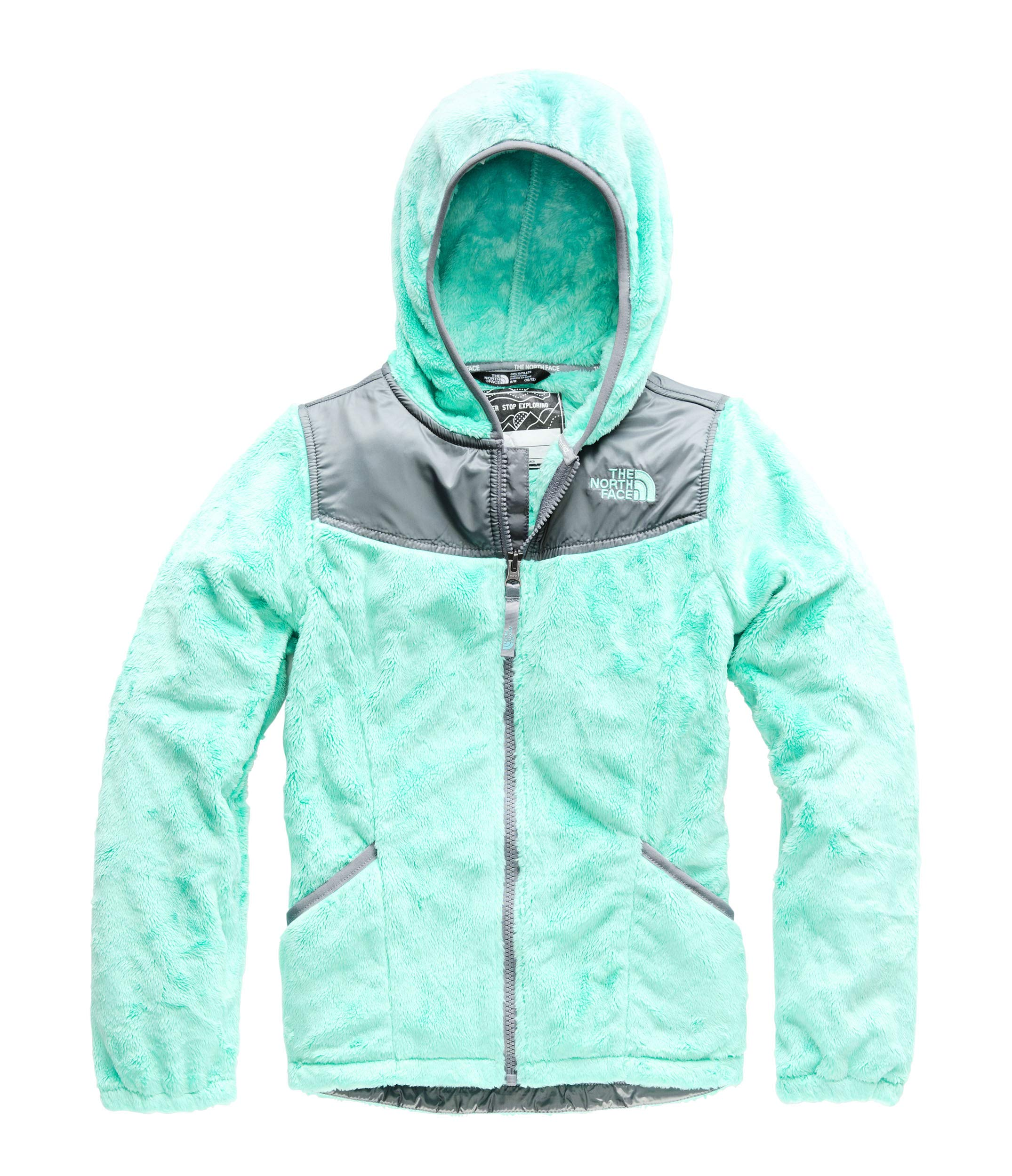 The North Face Girl's OSO Hoodie - Mint Blue - L