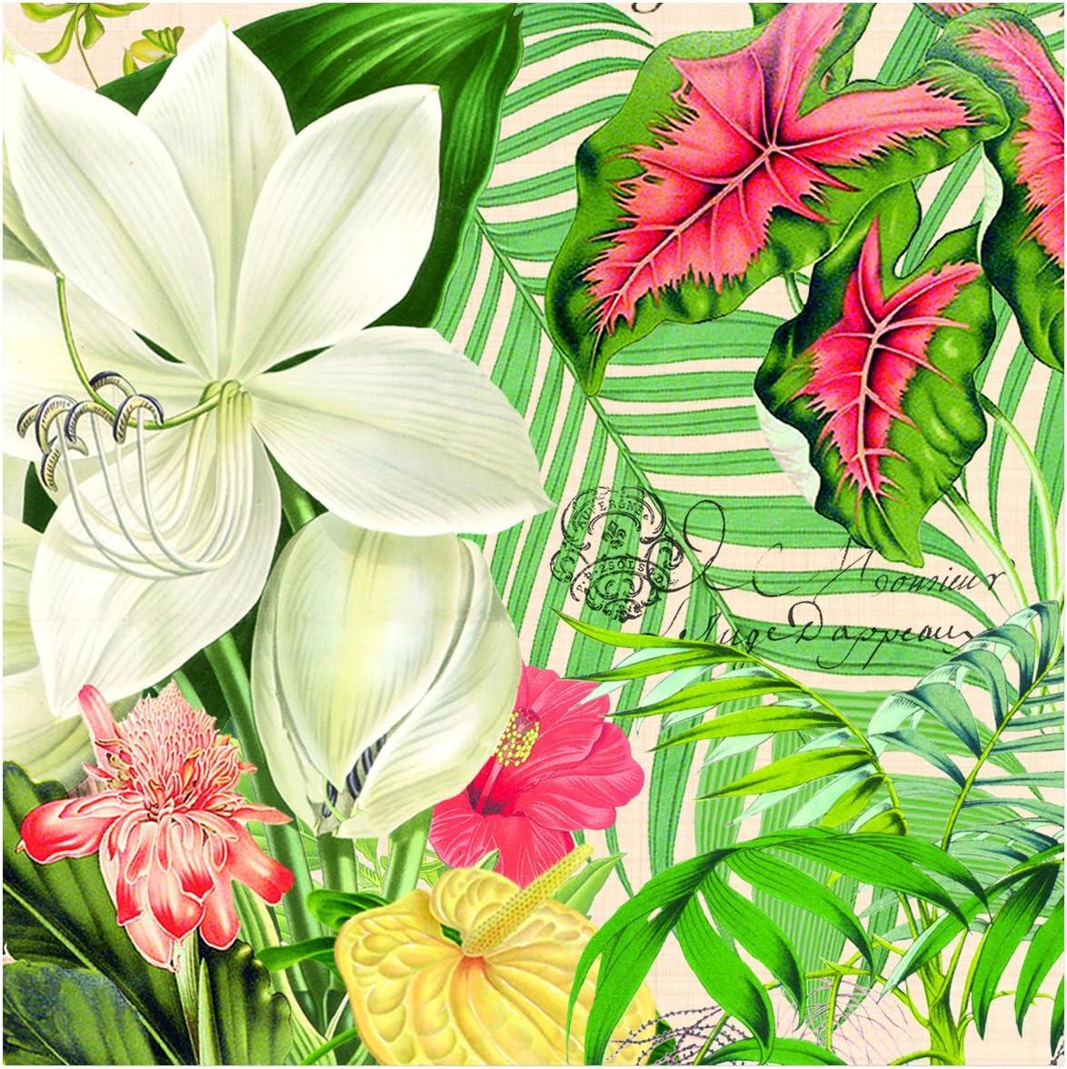 Michel Design Works 20-Count 3-Ply Paper Luncheon Napkins, Vanilla Palm