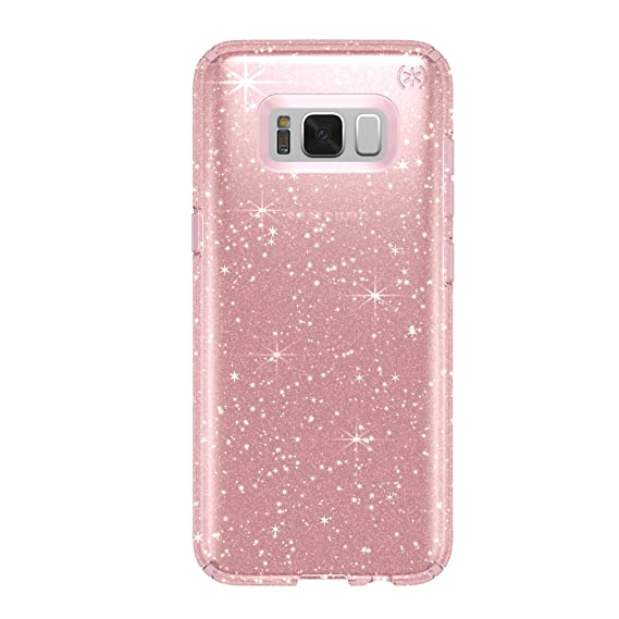 the best attitude 17df8 68520 Speck Products Presidio Clear + Glitter Cell Phone Case for Samsung Galaxy  S8 Plus - Rose Pink With Gold Glitter