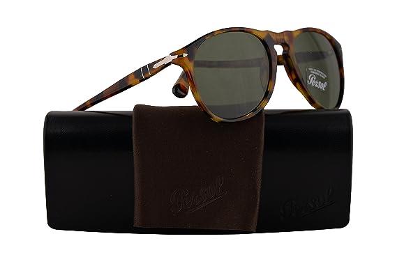 65cf02410d Persol PO9649S Sunglasses Madreterra w Green Lens 52mm 10524E PO9649-S 9649S  PO 9649