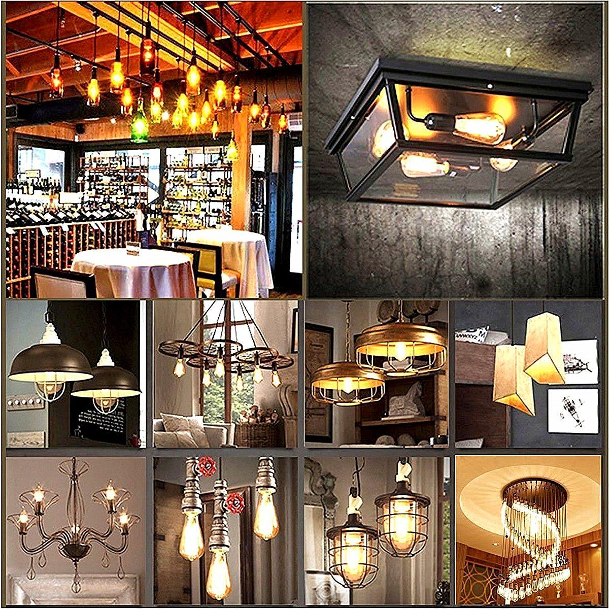 Amazon.com: KingSo E26 3 W foco de luz LED (estilo Edison ...