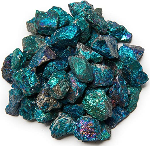 Large 1.5 Natural Raw Stones /& Fountain Rocks for Wire Wrapping Crafts Hypnotic Gems 1 lb Bulk Chalcopyrite Peacock Ore from Mexico Wicca and Reiki Crystal Healing