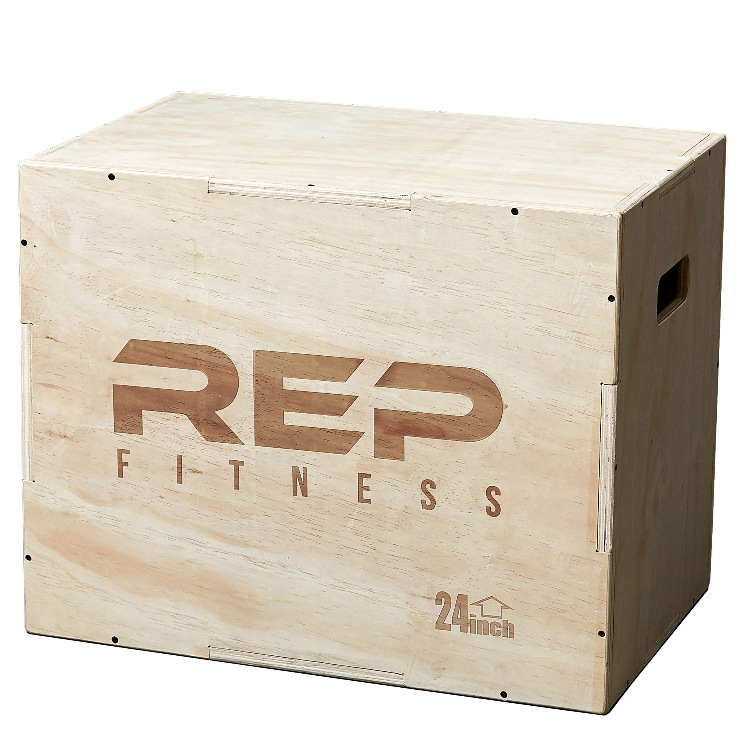 Rep 3 in 1 Wood Plyometric Box for Jump Training and Conditioning 30/24/20 by REP FITNESS