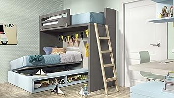 Ambiato Vita 47 Lit Mezzanine Pour Chambre D Enfant Avec Lit
