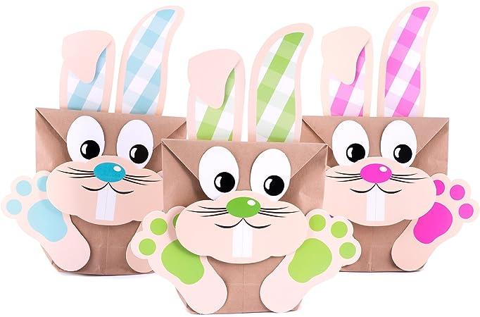 fai da te set da 6/sacchetti set per creare sacchetti regalo con coniglietti pasquali Pajoma