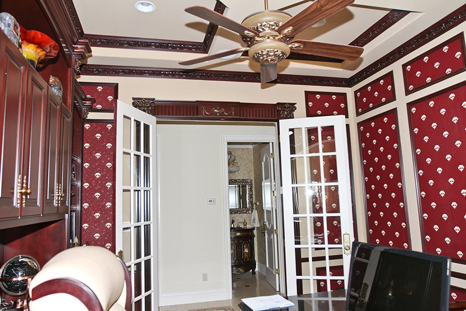 Plastic Crown Moulding Manufactured with a Dense Architectural Polyurethane Compound 10 Crown Molding CM-2080 Crown Molding.