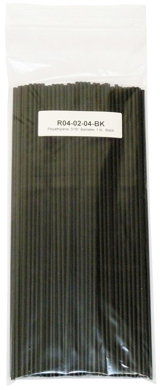 Black LDPE Polyethylene Plastic Welding Rod 3//16 diameter 1 lb.