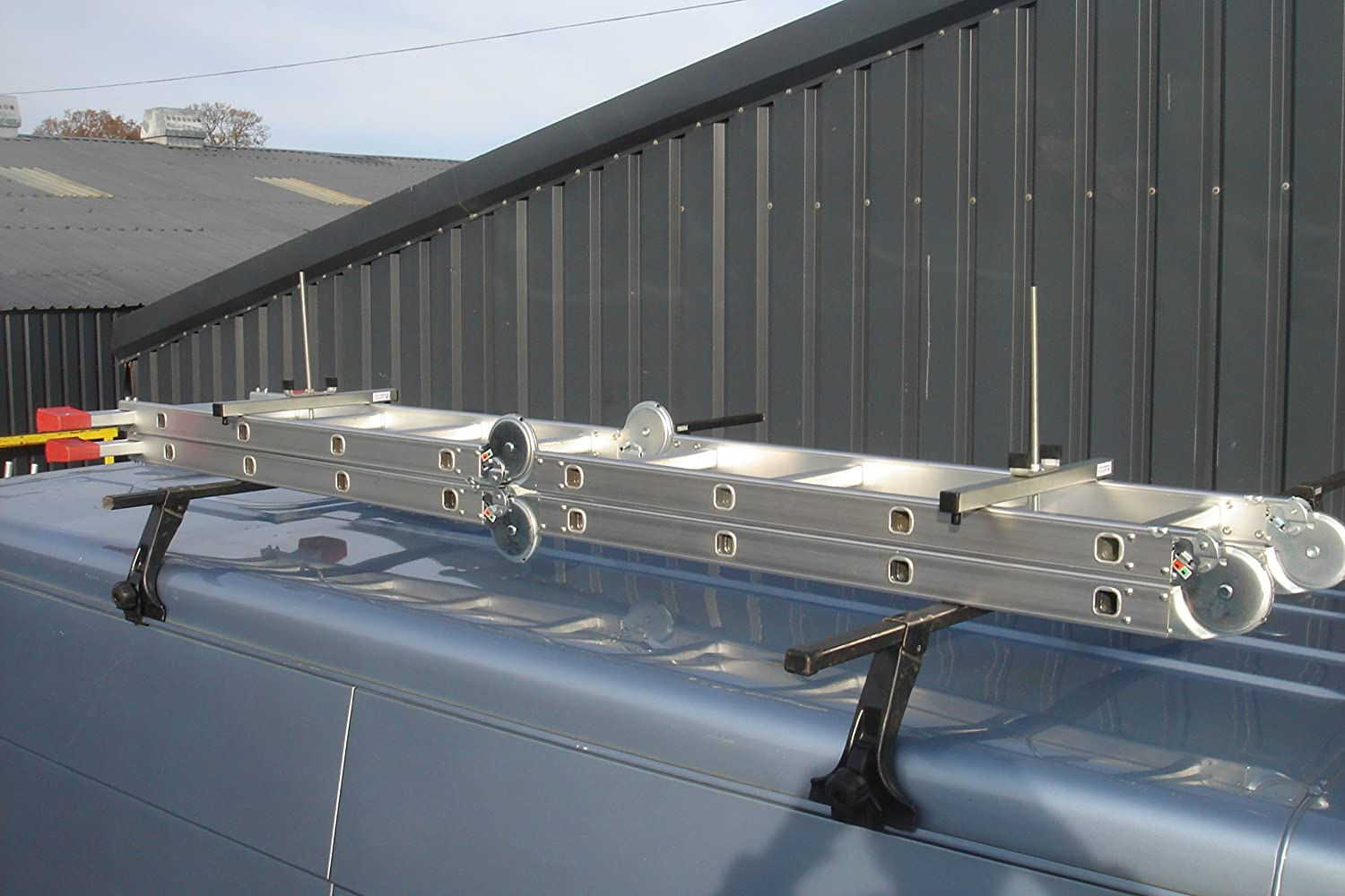 Pair New Anvil Roof Rack Ladder Clamps