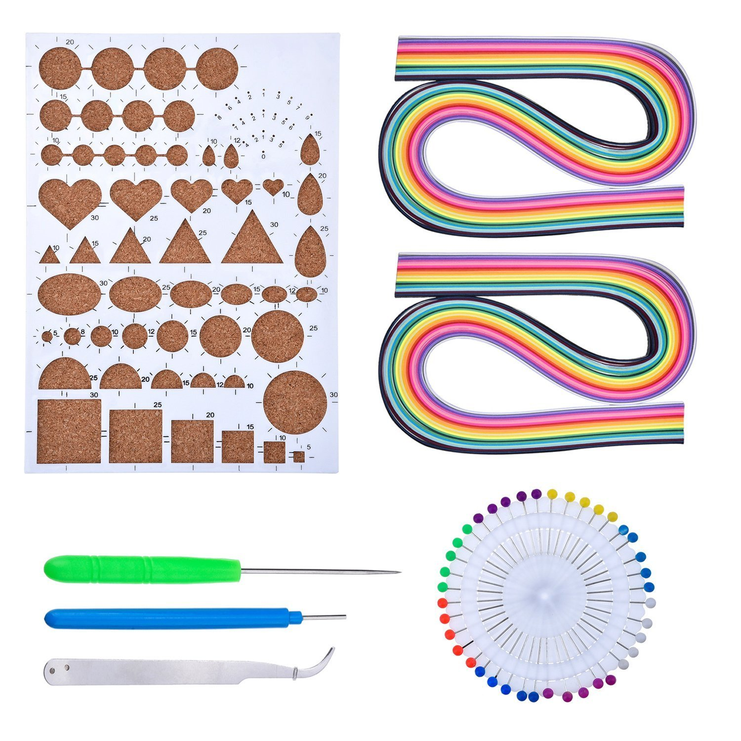 Paper Quilling Kit Assorted Colors with 5 Quilling Tools and 2 Pack (26Colors 160 Strips Quilling Paper) Tomorrow Store