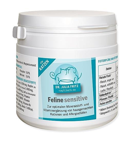 napfcheck Feline Sensitive - Complemento Nutrientes para gatos - 120 g: Amazon.es: Productos para mascotas