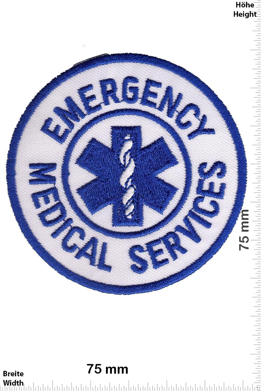 - Iron On Patches Patch-Iron-Emergency Medical Services Aufn/äher Embleme B/ügelbild Aufb/ügler - Rettungsdienst