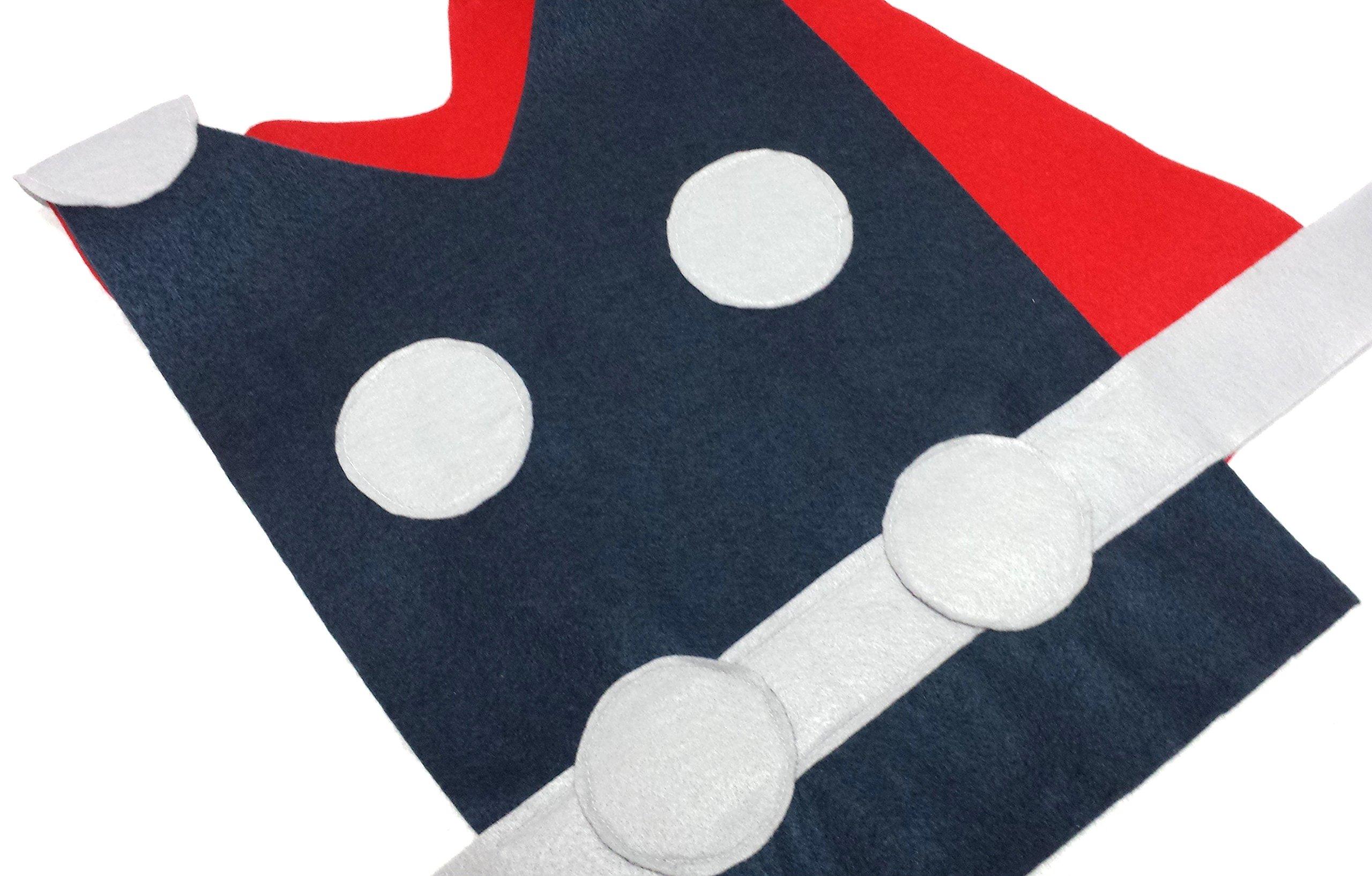Kids Thor Costume Tunic (Avengers/Marvel) - Baby/Toddler/Kids/Teen/Adult Sizes