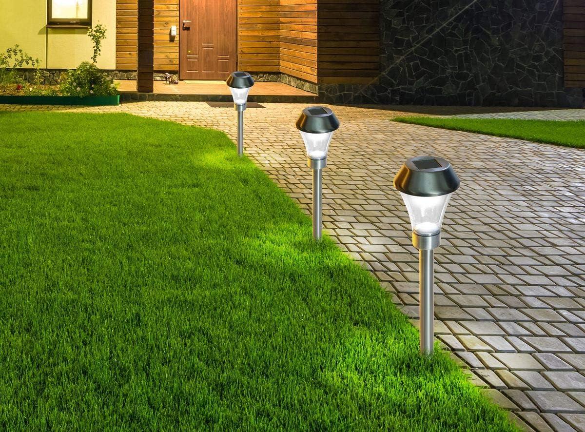 NORTENE Areis Trio - Lote de 3 balizas solares para Plantar: Amazon.es: Jardín