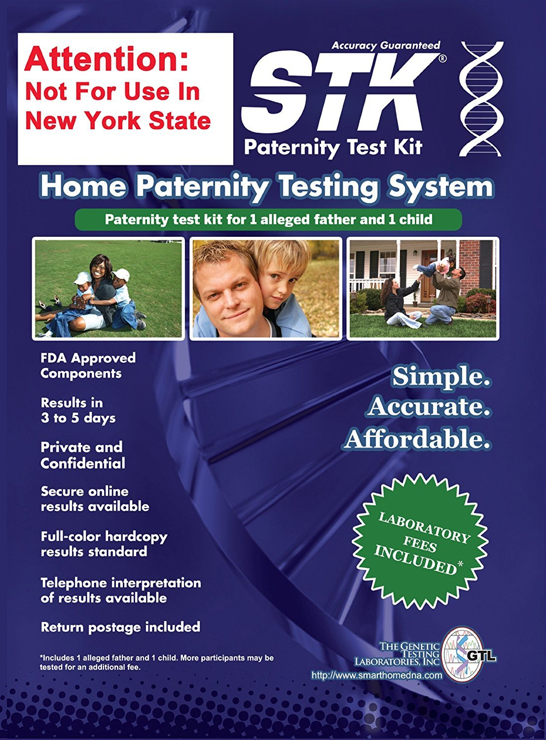 STK Paternity Test Kit - Includes All Lab Fees by STK