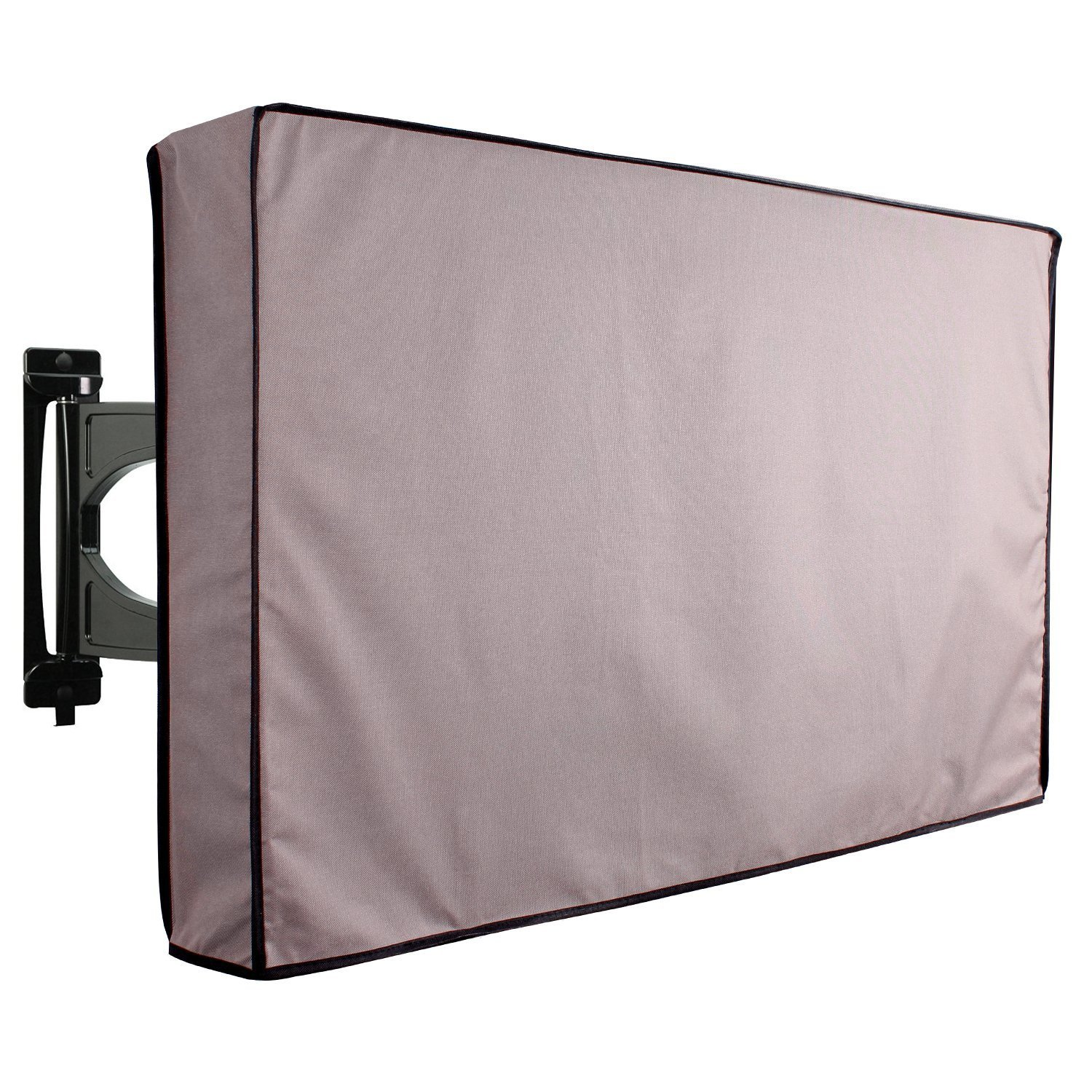 KHOMO GEAR - TITAN Series - Outdoor TV Cover Weatherproof Universal Protector for 30'' - 32'' LCD, LED, Television Sets - Works  with Most  Mounts & Stands. Built In Remote Controller Storage - Gray