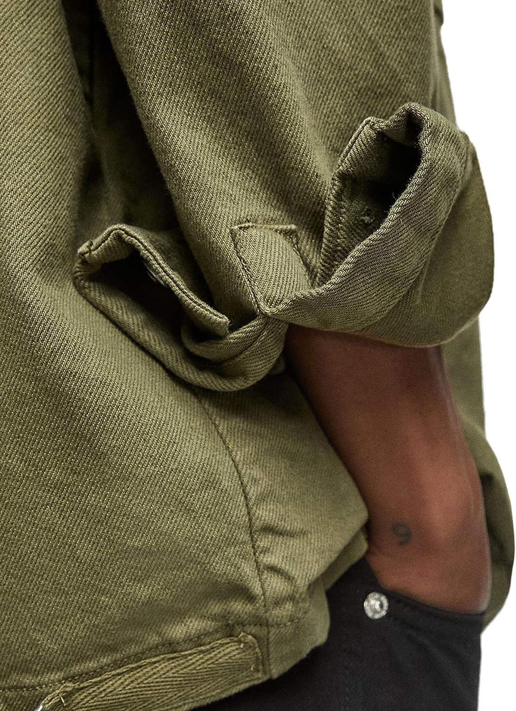 Zara 3562/400 - Camiseta de Mezclilla para Hombre - Verde ...
