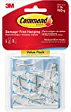 Command 17065CLR-VPES Medium Wire Toggle Hook Value Pack - Clear