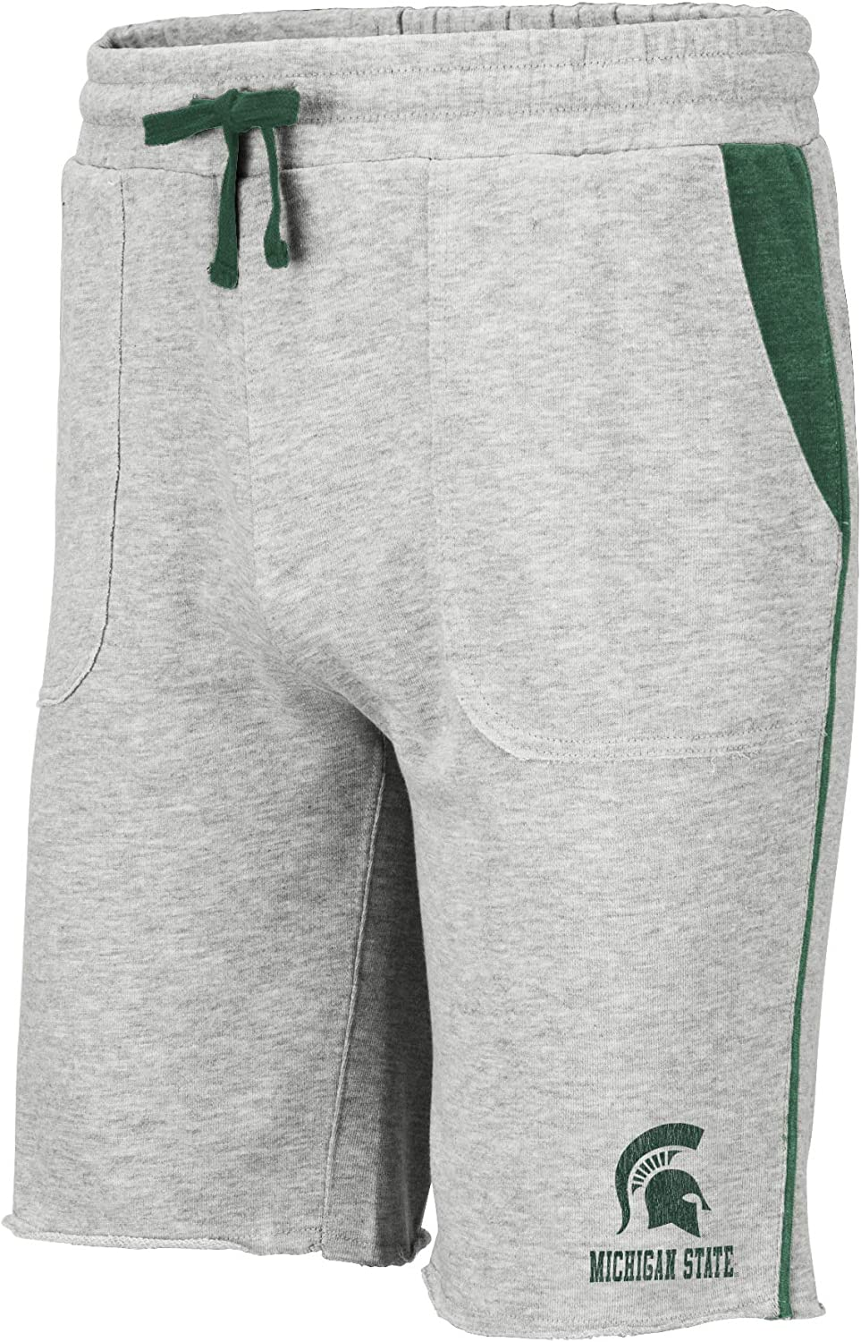 Colosseum NCAA Mens Cutoff Athletic Training Gym Shorts with Pockets-Heather Grey