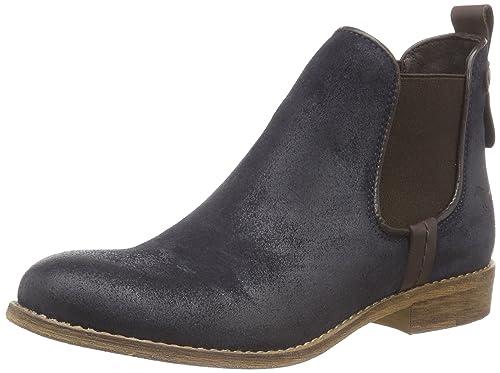 Mustang Chelsea Boot - botines chelsea de cuero mujer, color azul, talla 42: Amazon.es: Zapatos y complementos