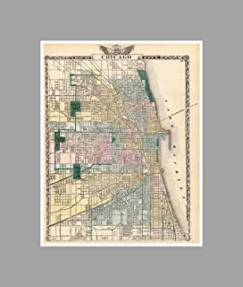 Amazoncom MAP of CHICAGO Burnt District Great Fire circa 1871