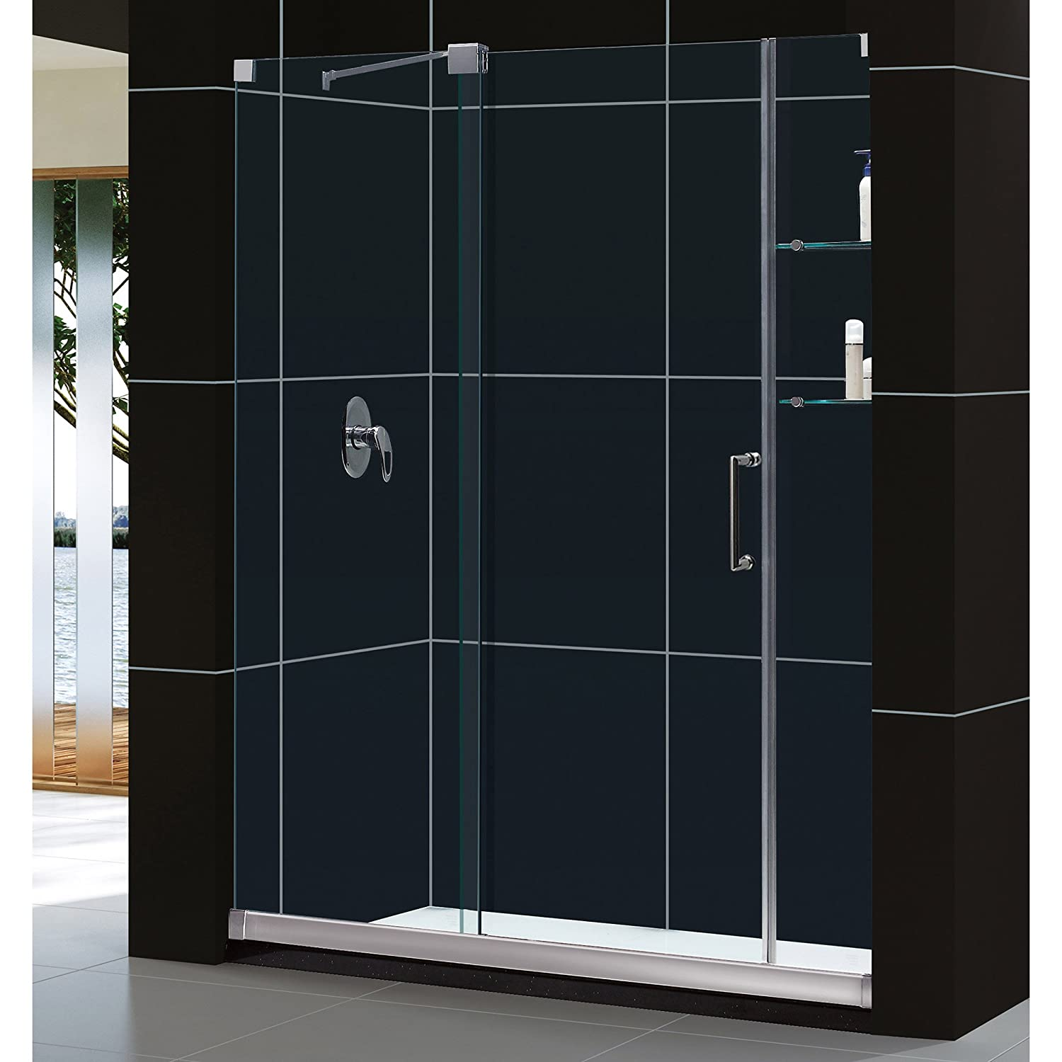 Dreamline Mirage 56 60 In Width Frameless Sliding Shower Door 38